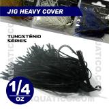 COYOTE JIG HEAVY COVER 1/4 OZ COR BLACK