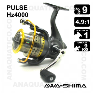 CARRETO AWA-SHIMA PULSE HZ4000 BB 9 / Drag 9Kg / R 4.9:1