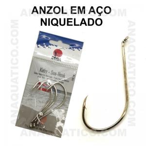 ANZOL DEGA  7370 AÇO NIQUELADO Nº 8/0 C/ 3 PCS