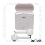 Auriculares Bluetooth V5.0 C/ Mic E Dock Carregamento DENVER