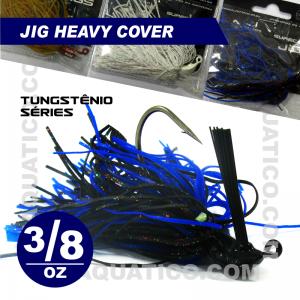 COYOTE JIG HEAVY COVER 3/8 OZ COR BLACK/BLUE