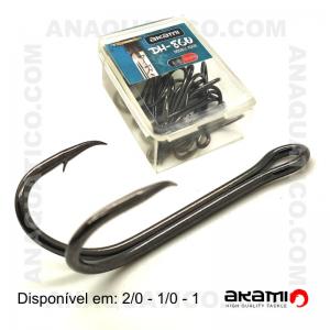 ANZOL DUPLO AKAMI DH-860 COR PRETO  10 PCS
