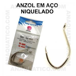 ANZOL DEGA  7372 AÇO NIQUELADO  Nº 6/0 C/ 3 PCS