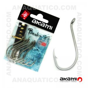 ANZOL AKAMI BEAK SS INOX Nº 6/0 C/ 7 PCS