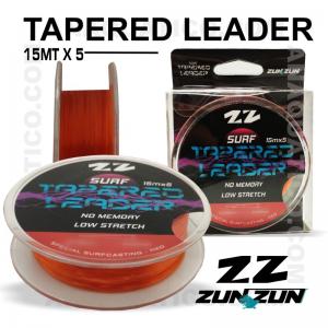 LINHA CÓNICA ZUN ZUN TAPERED LEADER 0.25 X 0,57mm 5 X 15Mt