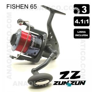 CARRETO ZUN ZUN FISHEN 65 BB 3 / R 4.1:1 LINHA INCLUÍDA