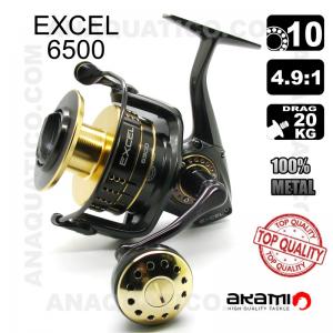 CARRETO AKAMI EXCEL 6500 BB 10 / Drag 20Kg / R 4.9:1