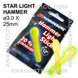 ROBINSON HAMMER LIGHT STICK  ø 3.0 X 25 mm COR VERDE