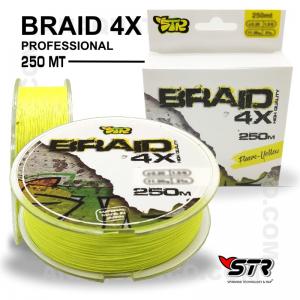 LINHA  STR BRAID 4X  0,14mm / 7.80kg / 250 Mt