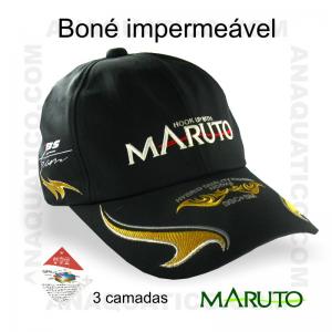 BONÉ MARUTO IMPERMEÁVEL BORDADO COR PRETO