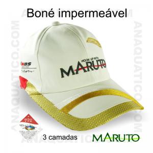 BONÉ MARUTO IMPERMEÁVEL BORDADO COR BRANCO