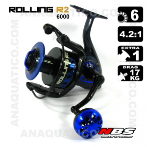 NBS ROLLING R2 6000- BB 5+1 - Ratio 4.2:1 - Drag 17Kg