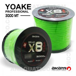 LINHA AKAMI YOAKE X8 PE PROFESSIONAL 3000 Mt