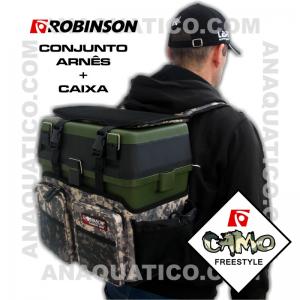 CONJUNTO ROBINSON DE CAIXA MAIS ARNÊS CAMO