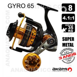 CARRETO GYRO 65 BB 8 / Drag 35Kg / R 4.1:1