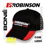 ROBINSON BONÉ C/ LEDS COR PRETO / VERMELHO