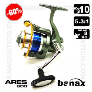 CARRETO BANAX ARES 600 BB 10 / Drag 8Kg / R 5.3:1