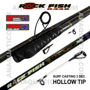 NBS ROCK FISH R44X SURF 3SEC. 5.0MT - 100/250GR - TUBULAR