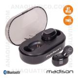 Auriculares Bluetooth V5.0 C/ Dock Carregamento TWs Madison