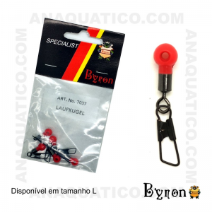DESTORCEDOR BYRON DE CORRER C/ ALFINETE  7037 -  COR BLACK NICKEL - 5 PCS